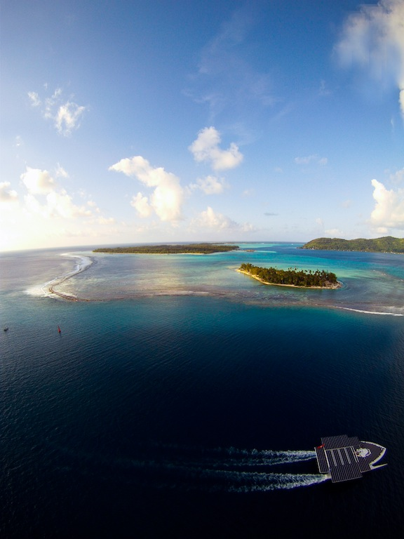 MS TURANOR PlanetSolar Yacht in one of the most beautiful yacht charter destinations - French Polynesia