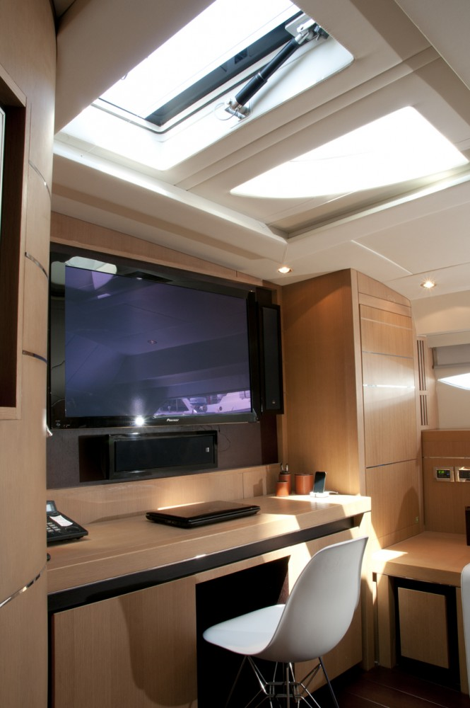 Playroom of motor yacht MISTRAL 55 completed with skylight