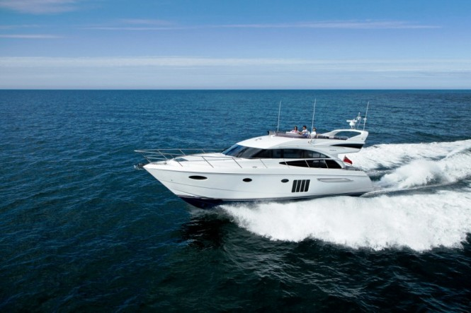 Princess 60 motor yacht underway