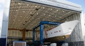 Princess Yachts complete first hull of new 40M motor yacht - the largest resin infused hull in the world
