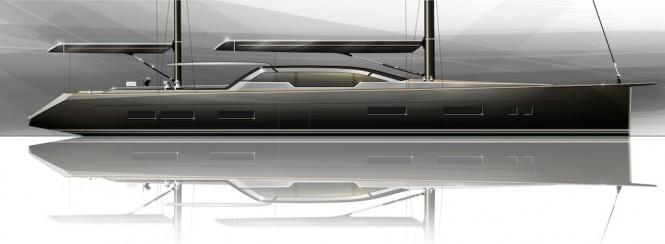 Profile of the Tony Castro designed 35 m yacht