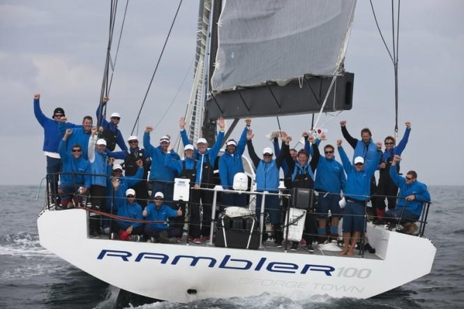 Rambler 100 team celebrating at the Lizard Point finish in South Cornwall, U.K. (photo credit TR2011 Mark Lloyd)