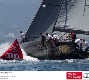 Audi MedCup – Region of Sardinia Trophy practice race won by sailing yacht Ran