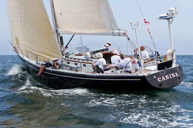 Sailing yacht Carina (photo credit TR2011Amory Ross)