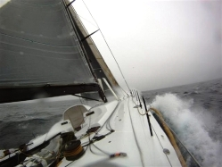 Sailing yacht Rambler 100 photo from offshore - photo courtesy of Rambler 100
