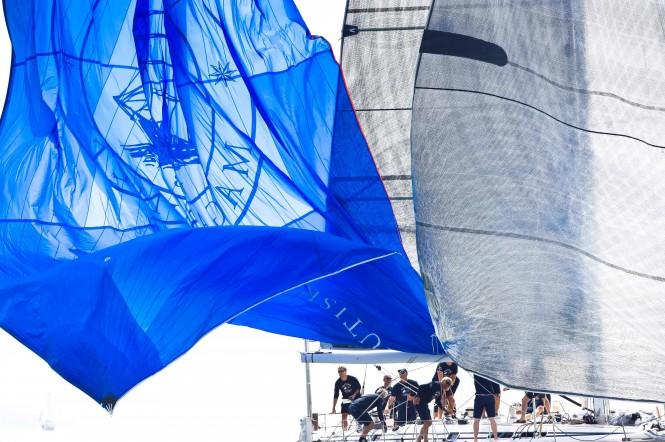 Sigrid, Swan 56 yacht drops her spinnaker © Kurt Arrigo & Nautor's Swan
