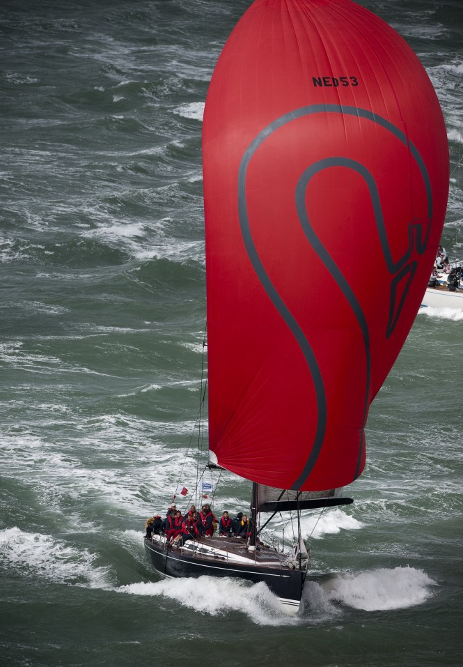 Swan Sailing yacht Silveren Swaen Racing in Solent Style Strong Winds © Kurt Arrigo 09