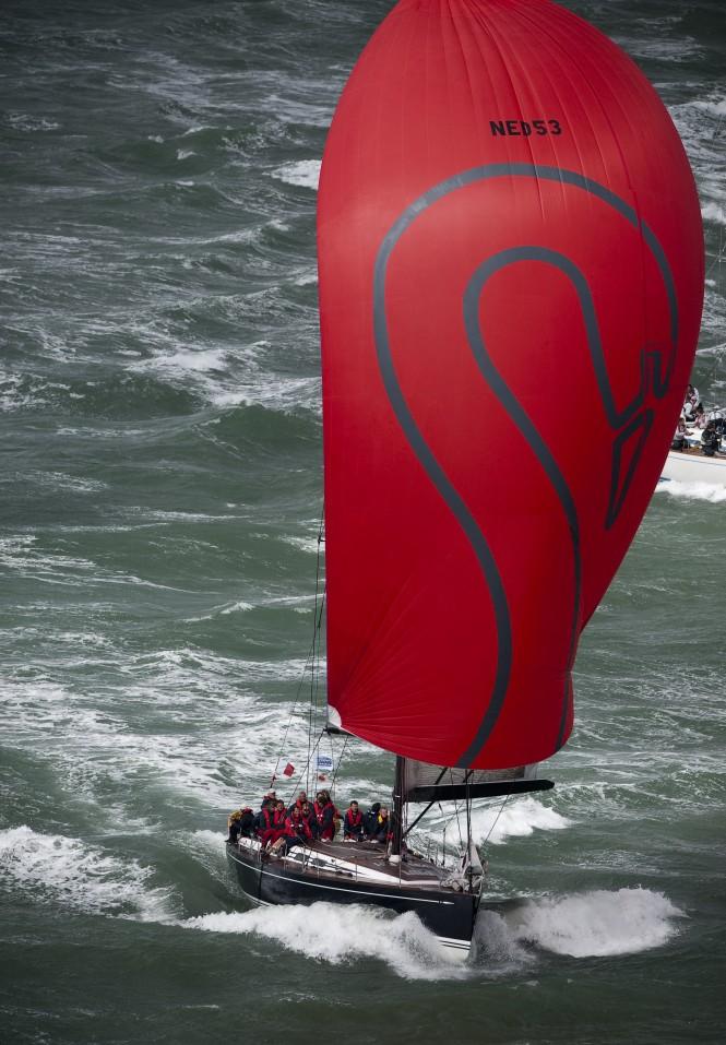 Swan Sailing yacht Silveren Swaen Racing in Solent Style Strong Winds © Kurt Arrigo 09