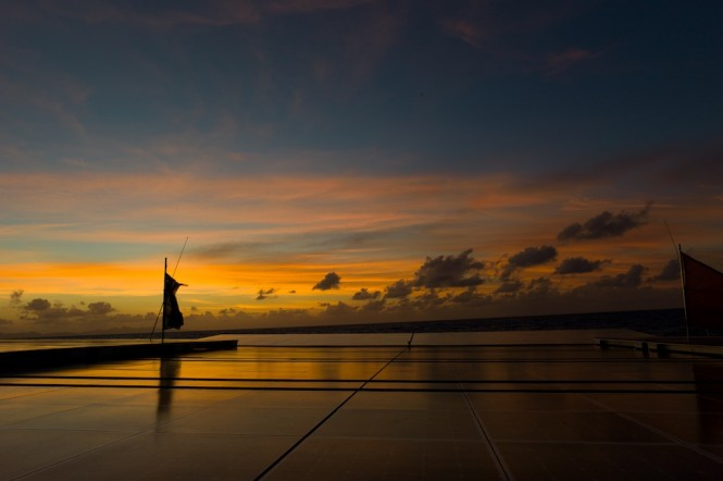 Stunning image of PlanetSolar MS TURANOR in French Polynesia