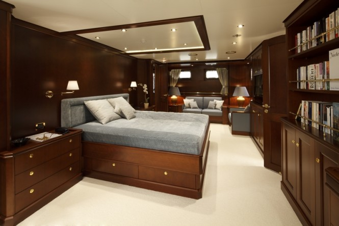Superyacht Axantha II Master Cabin - Photo Credit B. Muncke - JFA