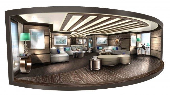 Superyacht Explore 70 Salon – a multifunction superyacht concept by NEWCRUISE