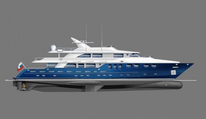 The Bray 42 metre Ocean Motor Yacht Design