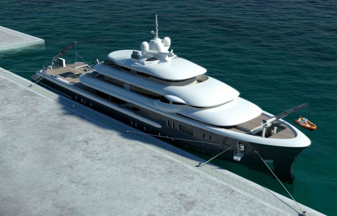 The Explore 70 is a new multifunction World Explorer Superyacht concept developed by Newcruise