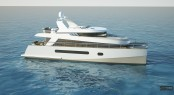 The new 65� trawler catamaran by Alu Marine shipyard and Stirling Design International