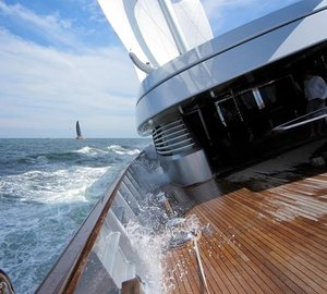 Transatlantic Race 2011: A Great First Day onboard Superyacht Maltese Falcon