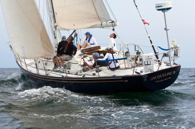 Transatlantic Race 2011 Jacqueline IV, skippered by Robert Forman retains third place in IRC Class Four.(photo credit TR2011Amory Ross)