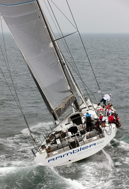 Transatlantic Race 2011 - Record holding Rambler 100 (photo credit TR2011Mark Lloyd)