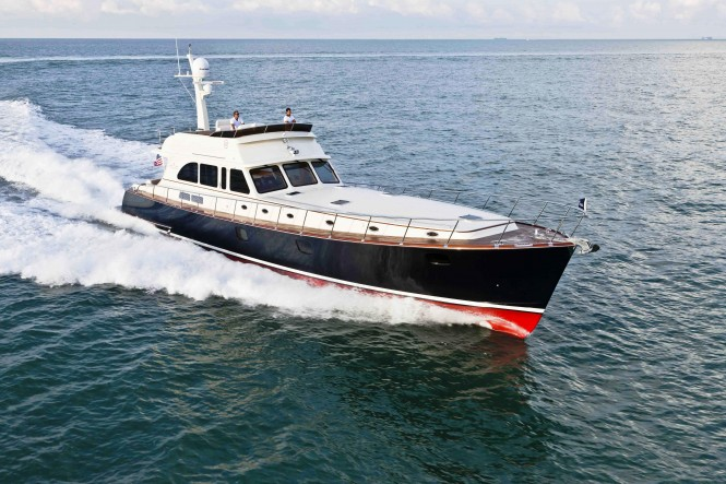 The 75 FB motor yacht is part of the Vintage Line, the latest in Vicem's ...