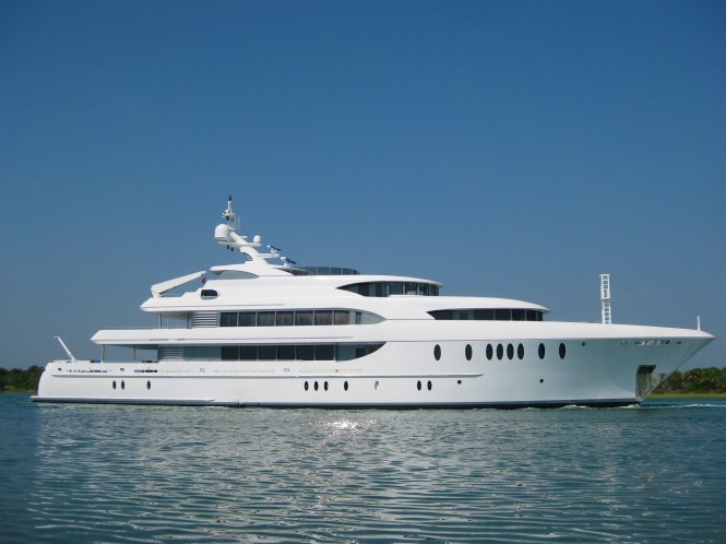 54.9m (180') motor yacht Harbour Island launched by Newcastle Shipyards