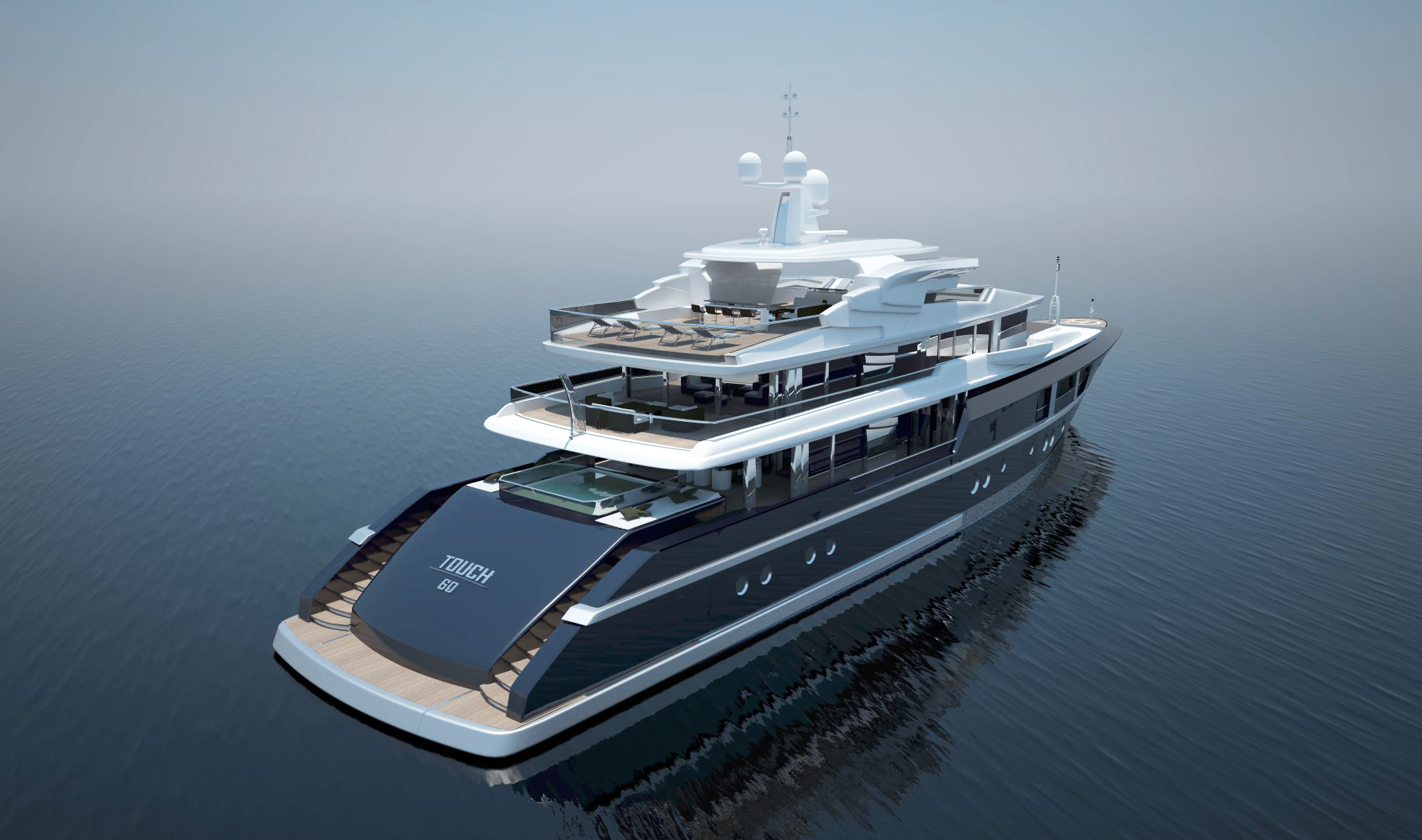 60 Metre Yacht Concept By Newcruise Touch 60 Yacht