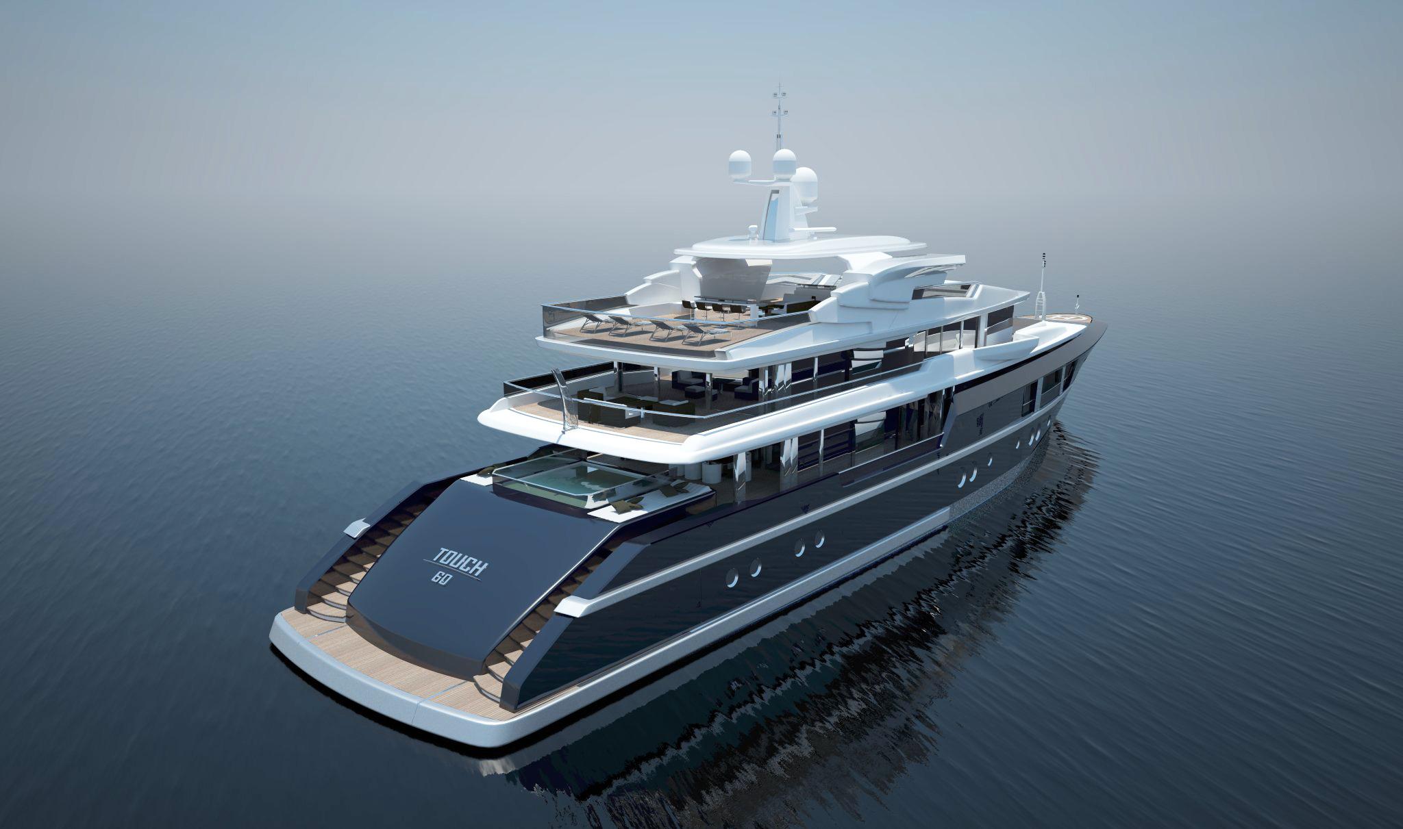 motor yacht touch  project designed  newcruise  hamburg yacht charter superyacht news