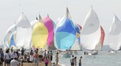 Image from the Cowes Week in 2009 - Spinnaker fleet  - Copyright 2009 Rick Tomlinson