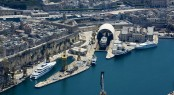 Aerial View of the Palumbo Malta Superyacht Facilities