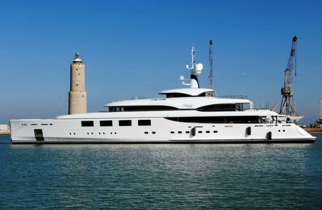Benetti yacht Nataly of 66 metres - the first yacht delivered by the Italian shipyard this summer - her delivery was followed by the 65m yacht Seanna