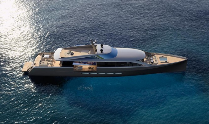CNB 43.20 m motor yacht designed by German Frers - Image courtesy of CNB Superyachts