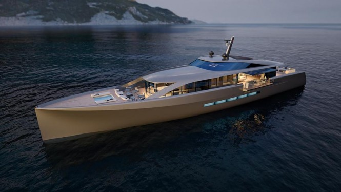 CNB 43.20 m motor yacht designed by German Frers  Image courtesy of CNB Superyachts
