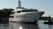 F45 motor yacht Helix launched by Feadship Royal Van Lent
