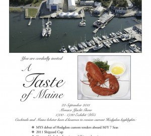 Hodgdon Yachts offering a taste of Maine at the Monaco Yacht Show 2011
