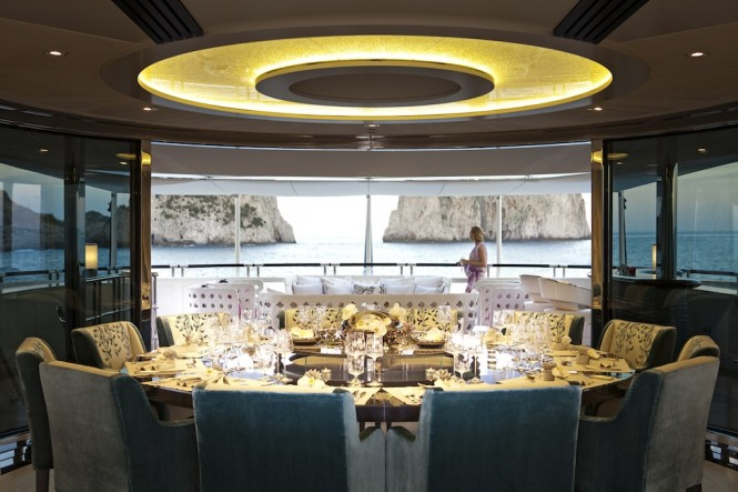Interior of the Heesen Quinta Essentia charter yacht - Photo credit to Martin Morrell