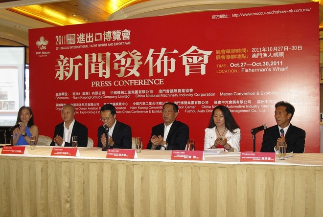 Meet the press - organisers of the Macau (China) International Yacht Import and Export Fair - Photo Credit Guy Nowell