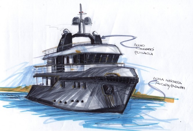 Ocean King 88 Yacht sketch