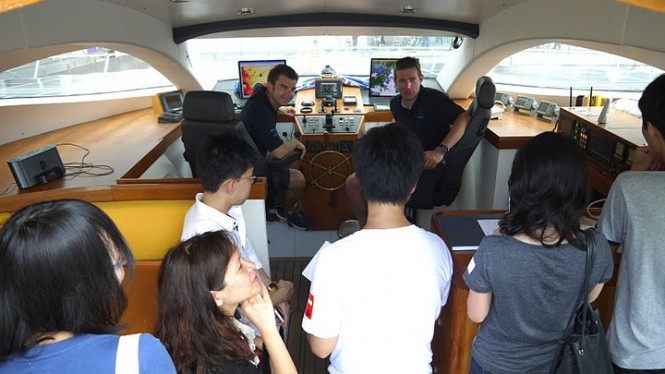 On Board of MS Turanor PlanetSolar in Hong Kong