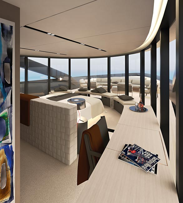 Owners Suite of the CNB 43.20 m motor yacht designed by German Frers  Image courtesy of CNB Superyachts 