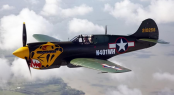 P-40K Aleutian Tiger will be one of the six WWII vintage aircrafts flying in the Newport Bucket Airshow - Photo credit Texas Flying Legend Museum