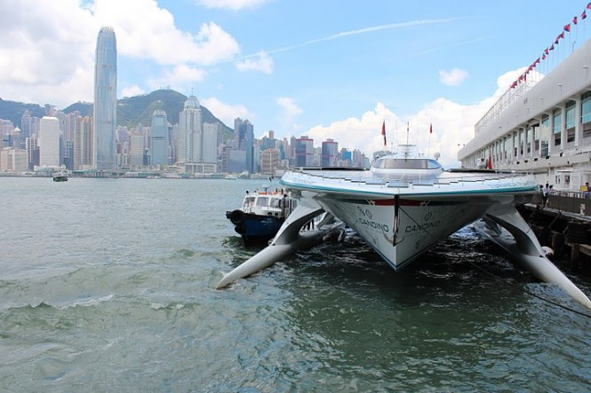 PlanetSolar MS Turanor in Hong Kong