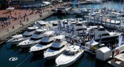 Riviera's floating display at the 2011 Sydney International Boat Show where the company sold 11 new boats totalling $14.7 million