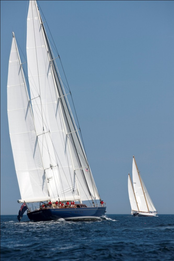 Sailing yacht Christopher at the 2011 Shipyard Cup Day One -  Photo by Billy Black