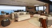 Salon of the CNB 43.20 m motor yacht designed by German Frers Image courtesy of CNB Superyachts