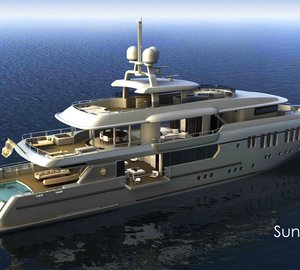 Sunrise 50m motor yacht design by Sunrise Yachts, Espen Oeino and Frank Darnet