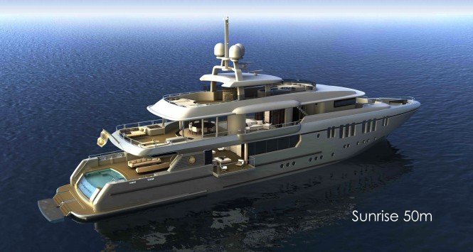 Sunrise 50m - A 50m Tri-Deck Displacement Motor Yacht by Sunrise Yachts ...