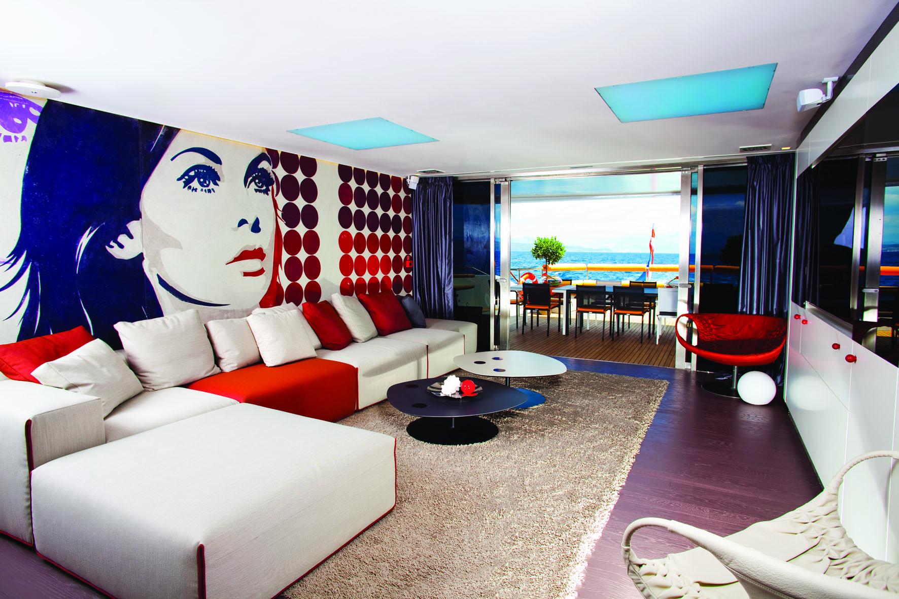 Superyacht joy me main saloon interior by marijana for Main room interior design