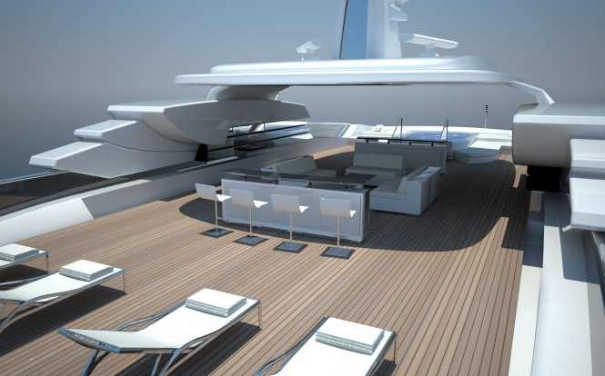 Touch 60 yacht project by Newcruise - Pool View