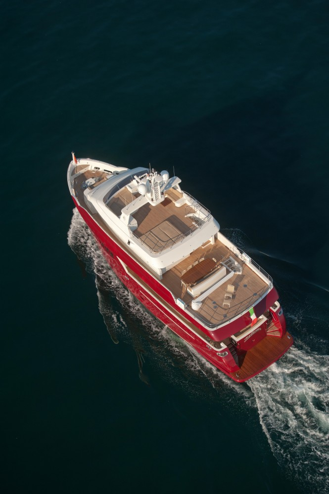 Vitadimare 3 superyacht from above