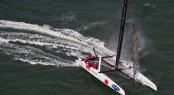 11th September 2011 - Plymouth (UK) - 34th America's Cup - AC World Series - Plymouth 2011 - Racing Day 2 ©2011 ACEA - Gilles Martin-Raget