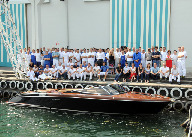200th Aquariva motor yacht launched by Riva