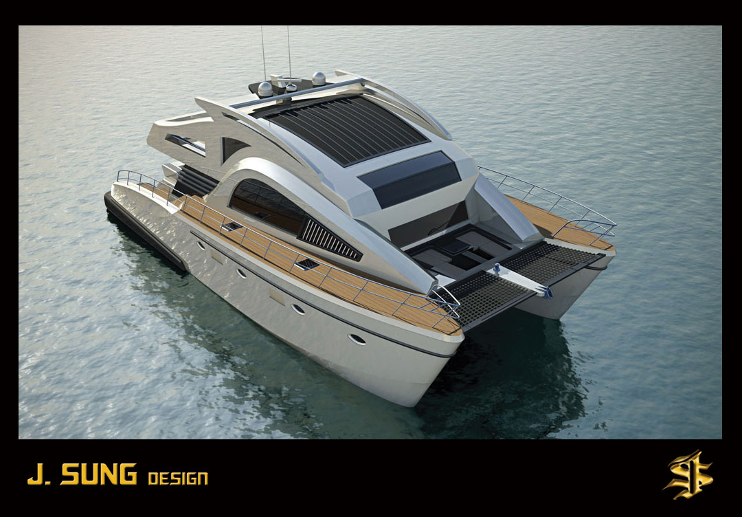 21m J Sung C69 Catamaran Motor Yacht By J Sung Design